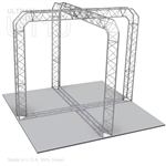 Natalie - 10 Ft X 10 Ft Triangle Aluminum Truss Booth