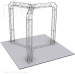 Samantha - 10 Ft X 10 Ft Triangle Aluminum Truss Booth