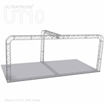 Charlotte - 10 Ft X 20 Ft Triangle Aluminum Truss Booth