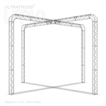 Andrea - 20 Ft X 20 Ft Triangle Aluminum Truss Booth