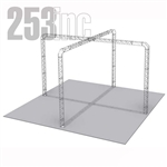 Camila - 25 Ft X 25 Ft Triangle Aluminum Truss Booth