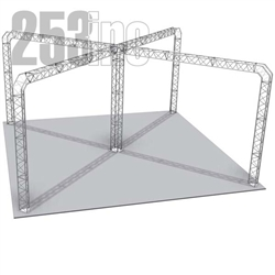 Khloe - 27 Ft X 27 Ft Triangle Aluminum Truss Booth