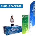 SHOWCASE SAMPLE KIT (FALCON FLAG, L BANNER STAND & TABLE THROW)