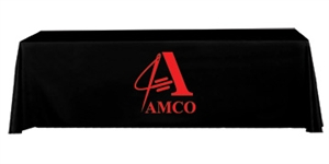 6FT TABLE THROW STOCK 3-SIDED WITH 1 COLOR LOGO PRINT
