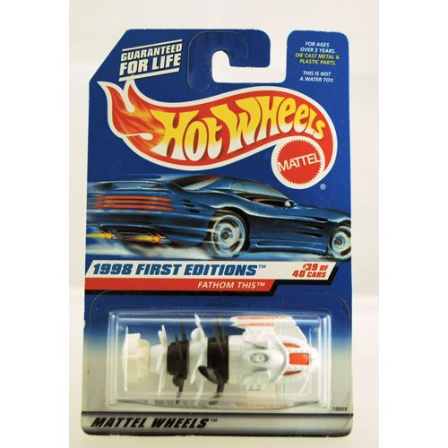 Hot Wheels 1998 First Editions - Fathom This - Experimental - White - #39