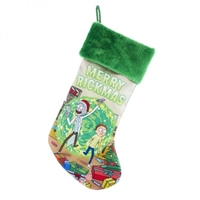"Kurt Adler 19"" Holiday Stocking - Rick & Morty ""Merry Rickmas""  Stocking"