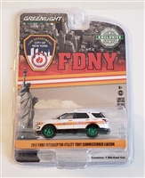 Greenlight - 2017 Ford Interceptor Utility White FDNY  Commissioner Liaison (Chase)