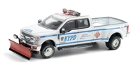 Greenlight Collectibles Hobby Exclusive - NYPD 2019 Ford F-350 Class 3 Hazmat with Snow Plow