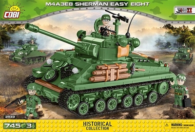 COBI Historical Collection - M4A3E8 Sherman Easy Eight - New Edition
