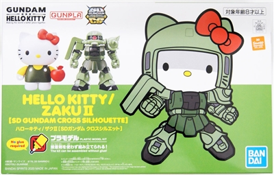 Bandai Gundam Gunpla Model Kit - Hello Kitty - Zaku II