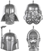 Hallmark Keepsake Ornaments 2020 - Mini Star Wars Helmets 4pk