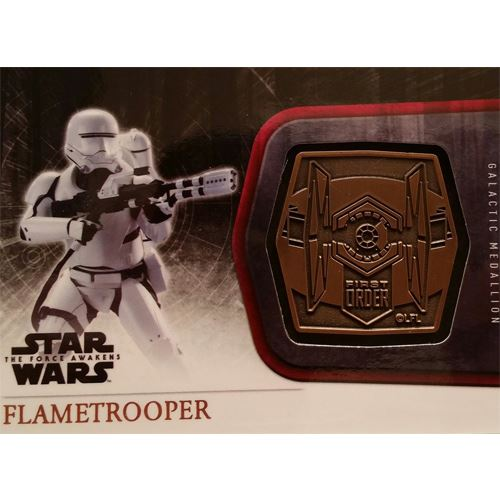 Topps 2015 The Force Awakens Series 1 - Flametrooper Bronze Medallion M-55