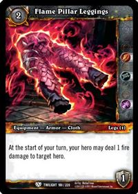 World of Warcraft TCG - Flame Pillar Leggings (180) - Twilight of the Dragons