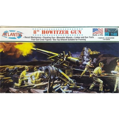 "Atlantis Model Kit - 8"" Howitzer Gun"