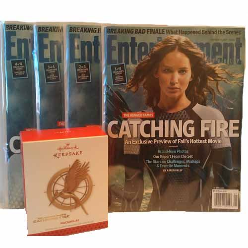 "Bundle - 5 Items - ""Catching Fire"" Entertainment Weekly/Ornament Gift Set"