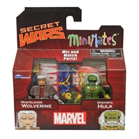 Marvel Minimates - Secret Wars-Wastelands - Wolverine & Dystopia Hulk