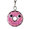 Kidrobot Yummy World Attack of the Donuts Keychain Series - Pink Frosted Chocolate with Sprinkles (2/24)