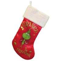 "Kurt Adler 19"" Holiday Stocking - Grinch in Training"