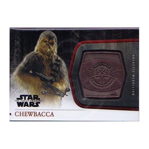 Topps 2015 The Force Awakens Series 1 -  Chewbacca Bronze Medallion M-26