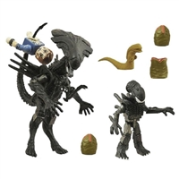 Minimates - Aliens Queen & Battle Damaged Bishop