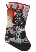 "Kurt Adler 19"" Holiday Stocking - Star Wars- Darth Vader Tapestry Stocking w/Cord Edge"
