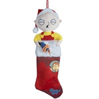 "Kurt Adler 24"" Holiday Stocking - Family Guy Stewie Head"