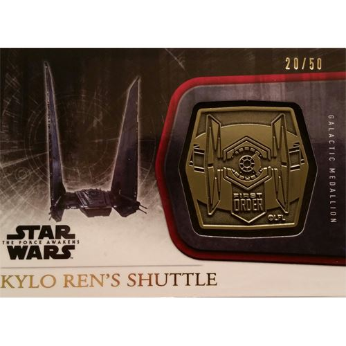 Topps 2015 The Force Awakens Series 1 - Kylo Ren's Shuttle Gold Medallion M-6