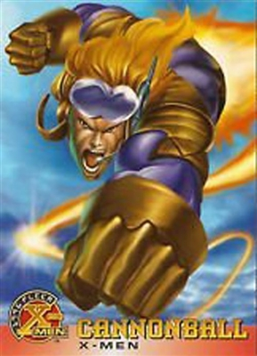 "1996 X-MEN Fleer Trading Cards - ""X-MEN"" - #4 - ""Cannonball"""