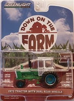 Greenlight Down On The Farm Series 3 - 1972 Tractor w/ Dal Rear Wheels (Green Machine)