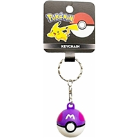 Pokemon 2-Inch Purple Master Ball Keychain