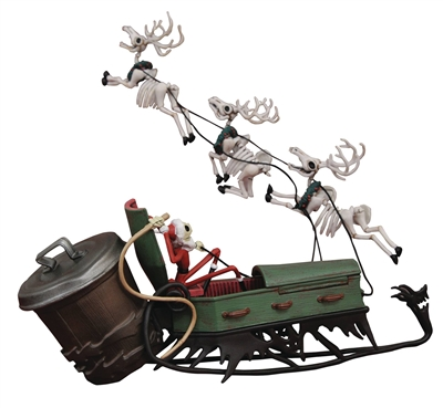 Diamond Select- Disney Nightmare Before Christmas Santa Jack & Sleigh Figure Set