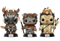 Funko POP! Movies: Star Wars Ewok 3PK - Teebo, Chief Chirpa & Logray