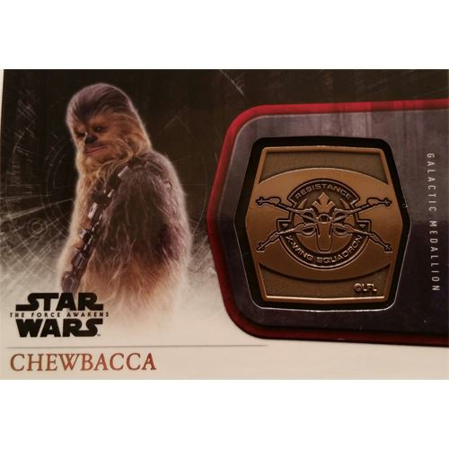 Topps 2015 The Force Awakens Series 1 - Chewbacca Bronze Medallion M-10