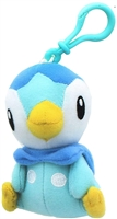 "Pokemon 3.5"" Plush Keychain - Piplup"