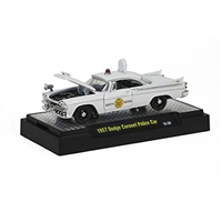 M2 Machines - Detroit Cruisers (12-29) - 1957 Dodge Coronet White Police Car