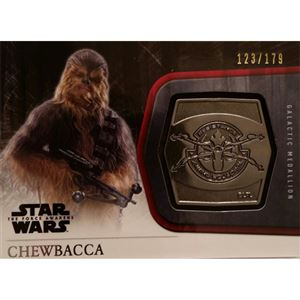 2015 The Force Awakens Series 1 - Chewbacca Silver Medallion M-26 (123/179)