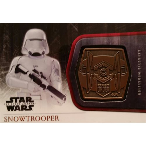 Topps 2015 The Force Awakens Series 1 - Snowtrooper Bronze Medallion M-58