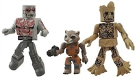 Marvel Minimates Guardians of the Galaxy Figures - Drax and Groot with Racoon