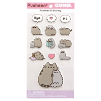 GUND Pusheen and Stormy Sticker Sheet 13-Piece Stickers, Multicolor