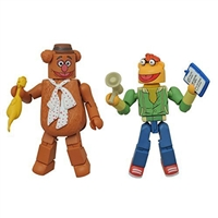 Minimates - The Muppets- Fozzie Bear & Scooter