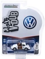 Greenlight - Club Vee V-Dub Series 9 - Mexico Traffic Police White and Brown