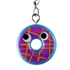 Kidrobot Yummy World Attack of the Donuts Keychain Series - Yellow Stripe Drizzled Blue Frosted Blueberry (1/24)
