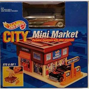 1990 City Mini Market Portable Playset
