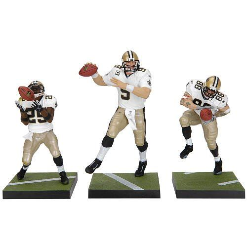 McFarlane -NFL Sports 3Pk - New Orleans Saints - Drew Brees, Jeremy Shockey & Reggie Bush