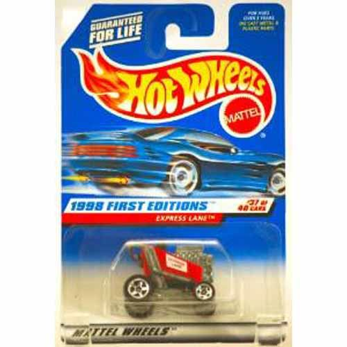 Hot Wheels 1998 First Editions - Express Lane - Red Racing Shopping Kart