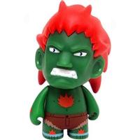 Street Fighter Enamel Key Chain Kidrobot Blanka Green Vs Zangief Red