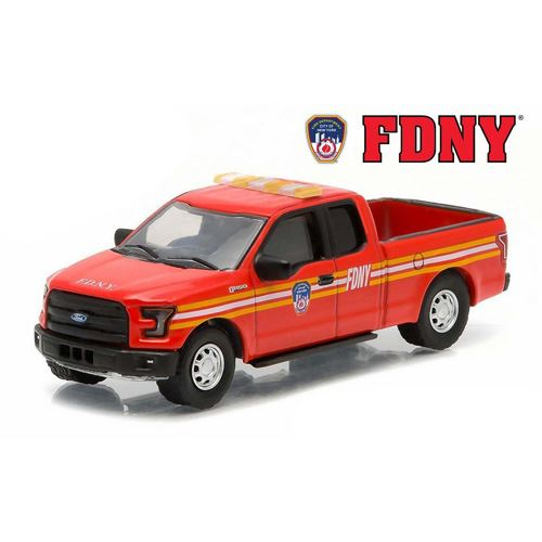 Greenlight - 2015 Ford F-150 The Official Fire Department City of New York FDNY Hobby Exclusive