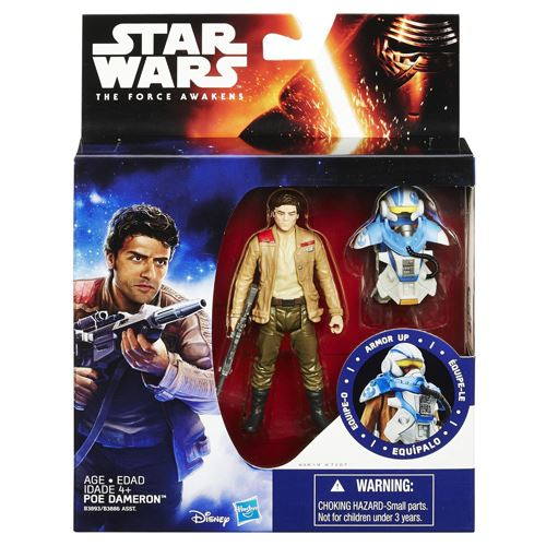 Star Wars The Force Awakens 3.75-Inch Figure Space Mission Armor Poe Dameron