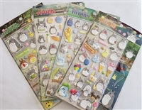 My Neighbor Totoro Puffy Stickers - Set of 4