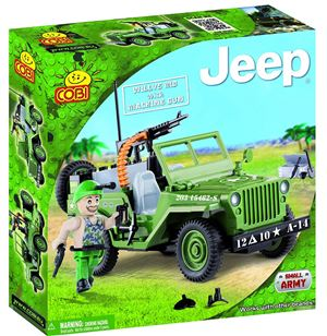 COBI Small Army Jeep Willys MB with Machine Gun Building Kit